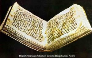 hz osman kuran 300x189 1400. Yılında Kuranın İlk Nüshaları Sergileniyor